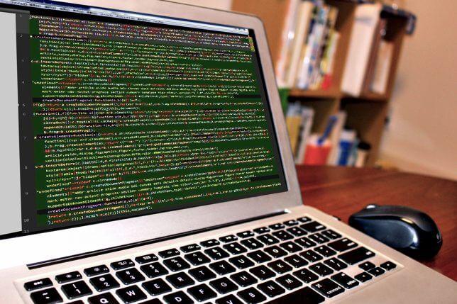 プログラムのコードの画面