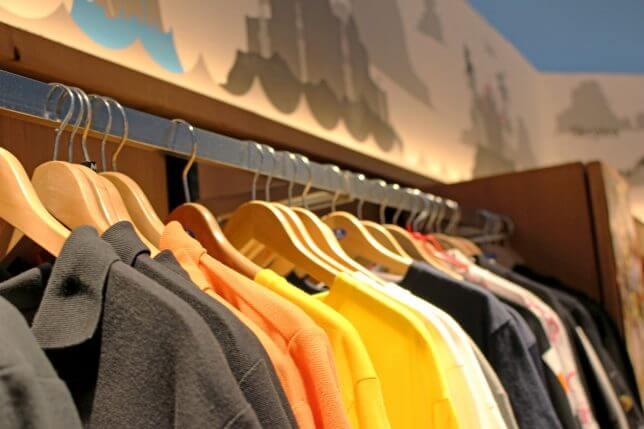 服の販売イメージ