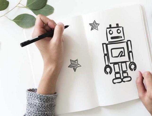 AIロボットのイメージ