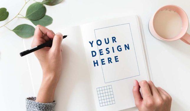 ノートにデザインを描く