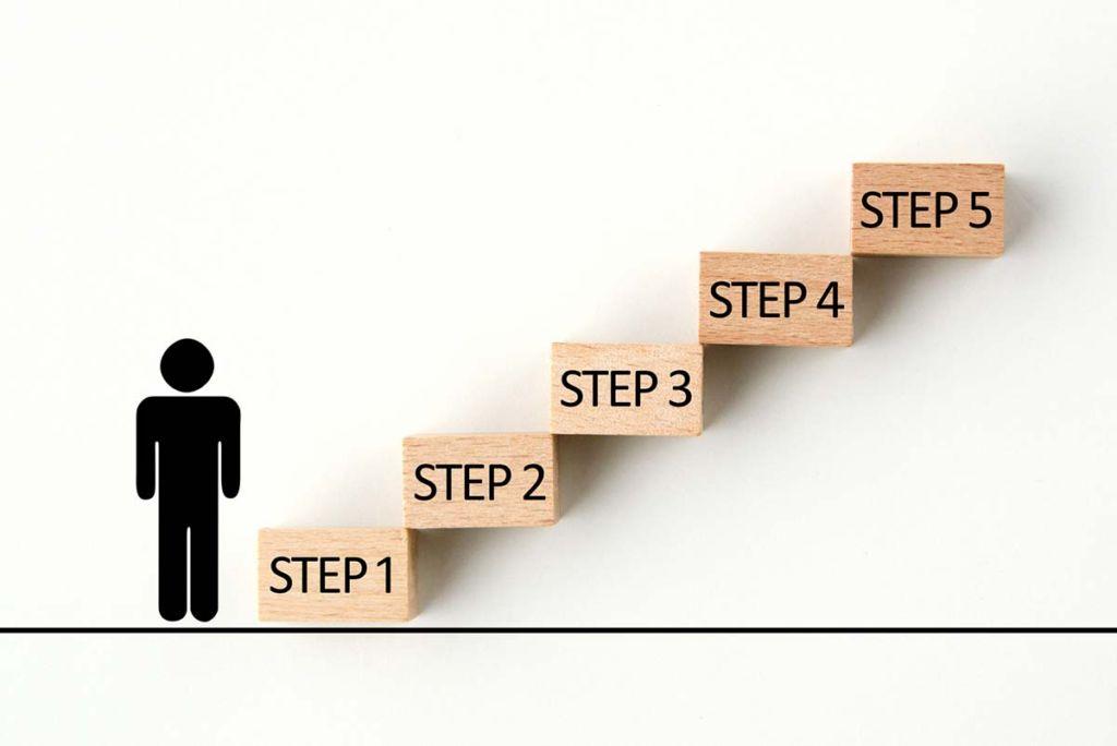 ステップアップするイメージ