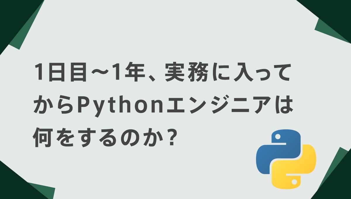 1日目~1年、実務に入ってからPythonエンジニアは何をするのか?