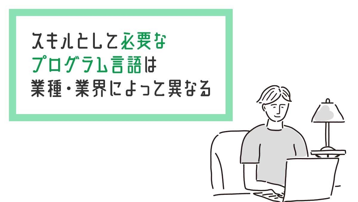 スキルとして必要なプログラム言語は業種・業界によって異なる